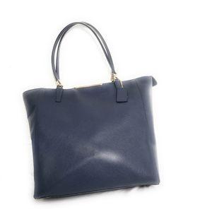 Coach Leather Tote Bag Handbag Purse Blue